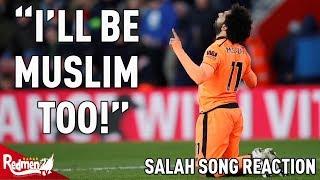 """""""I'll Be Muslim Too!"""": Mo Salah Song Reaction"""