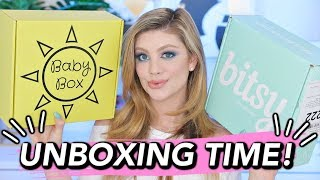 BABY SUBSCRIPTION BOX UNBOXINGS! | BITSY BOX & BABY BOX!