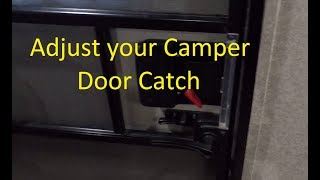 Adjust Your Camper Door to Close Tighter
