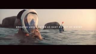 """Маска EasyBreath для снорклинга (бирюзовая) от компании """"Магазин Все, Что Нужно"""" - видео"""