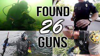 FOUND 26 GUNS UNDERWATER... Possible Murder Weapons?.. POLICE CALLED