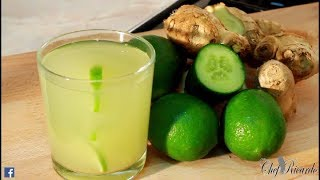 Best Ginger and lime tea for weight loss & healthy benefits | Chef Ricardo Cooking