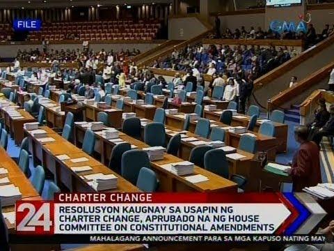 [GMA]  24 Oras: Resolusyon kaugnay sa usapin ng Charter Change, aprubado na ng House Committee on…