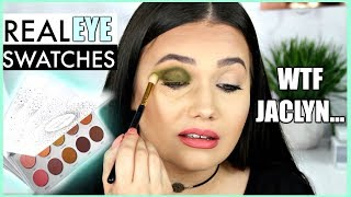 The TRUTH About Jaclyn Hill x Morphe VAULT | Swatching EACH Shadow on EYES!