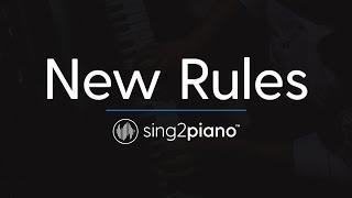 New Rules [Piano Karaoke Instrumental] Dua Lipa
