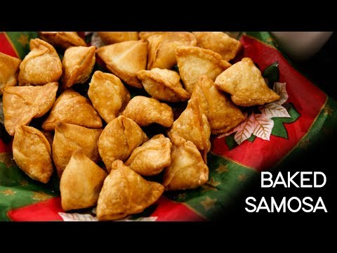 Mini Samosa Recipe – Moong Dal Namkeen Baked Samosas – CookingShooking
