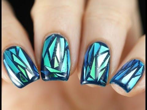 Маникюр «битое стекло»: 50 лучших идей модного дизайна ногтей