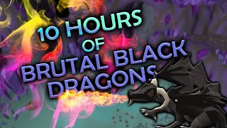 Loot From 10 Hours Of Brutal Black Dragons