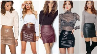 Exclusive Styles Of Leather Mini Pencil Skirts For Girls And Womens In Gorgeous Colors