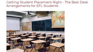 Getting Student Placement Right - The Best Desk Arrangements For EFL Students | ITTT TEFL BLOG