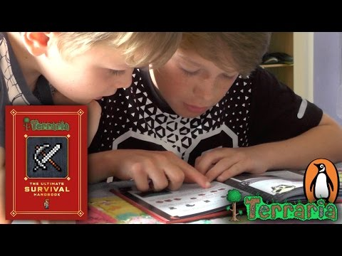 Terraria video game guide book helps parents and children
