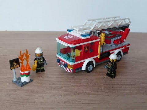 Vidéo LEGO City 60107 : Le camion de pompiers avec échelle