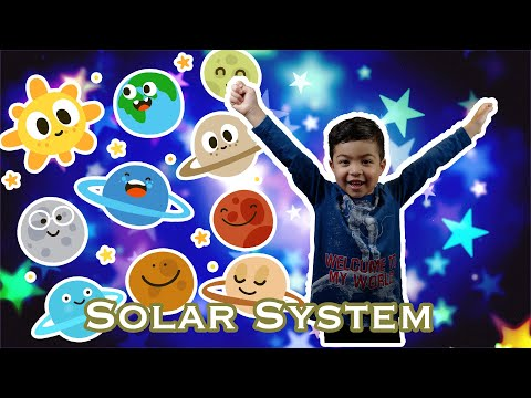 Solar System Song for kids to Learn with Play-doh planets by Milton!!!