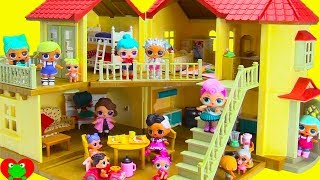 LOL Surprise Dolls Move Into GIANT Mansion Doll House