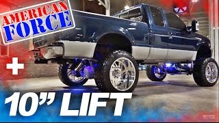 "Spotlight - 2001 F250 Super Duty, 10"" of Lift, 24"" FORCES, and 38's"