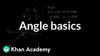 Angle basics | Angles and intersecting lines | Geometry | Khan Academy