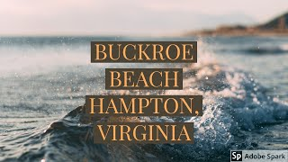 Drone video of Buckroe Beach in Hampton, Va.