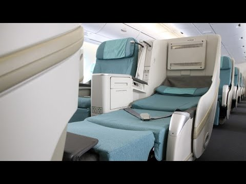 Korean Air A380 Business class (Exit seat!) Comprehensive Review | Seoul to LA