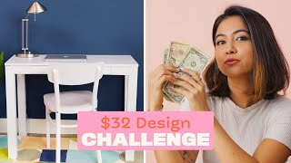 Styling A Creative Workspace For $32 | $32 Challenge | Apartment Therapy