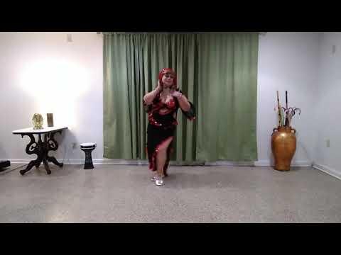 Improvisation Baladi style  belly dance.