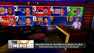 Colin lists 10 male athletes who've been more influential than Mayweather in past decade   THE HERD