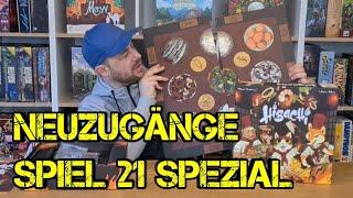 Neuzugänge - SPEZIAL - Folge 10 - SPIEL 2021 - Messeloot - Brettspiele - Boardgame Digger