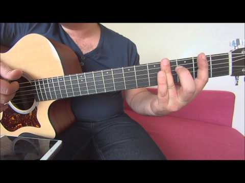 Love - Musiq Soulchid acoustic guitar tutorial bass line and chords
