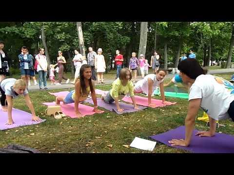Детская йога. Йога для детей. Бесплатный мастер-класс в Бресте. Парк им. 1 мая.
