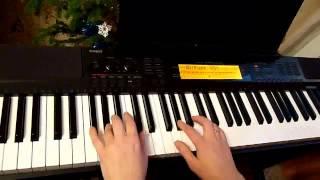 Простая танцевальная мелодия на синтезаторе