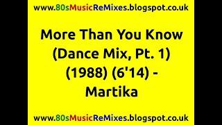 More Than You Know (Single Version) - Martika