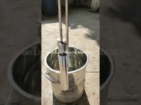 Bottom Level Liquid Thief Sampling Device SS316 for liquid sampling 50MLx3 ft Long
