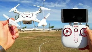 Syma X5UW-D Position Hold FPV Camera Drone Flight Test Review