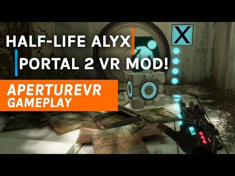 ApertureVR Portal 2 VR Mod Gameplay de Half-Life: Alyx