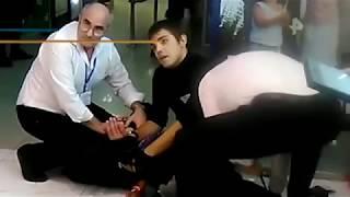 В Геленджике охранники магазина связали ремнем хулигана съевшего шоколадки