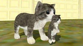 СИМУЛЯТОР Маленького КОТЕНКА #12 Кошка выросла и победила собаку в мультяшной игре #ПУРУМЧАТА