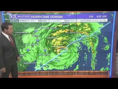 Hurricane Dorian expected to strengthen again tomorrow afternoon before moving over Nova Scotia