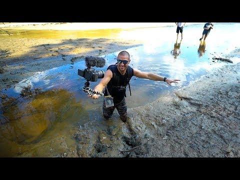 Treasure Hunting: Searching A Drained Lake!! (Deep Mud)