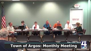 Argos Town Council Meeting - 5-15-19
