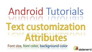 #63 Android Tutorial For Beginners: Android Text Customization Part 1 [HD 1080p]