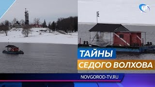 Археологи исследуют древний мост на дне Волхова