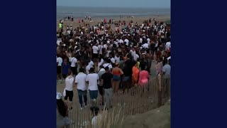 video: Councillors call for prosecutions after Kent beach cookout party attracted hundreds of revellers