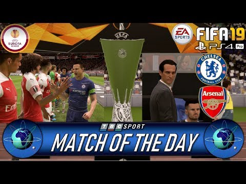 Chelsea Vs Arsenal Europa League Final Match Of The Day Live FIFA 19 Simulation