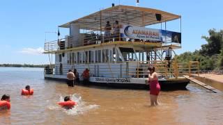 PASEO Y PLAYA CON EL Catamaran Aguas del Parana ( Ayolas) ( Paraguay)