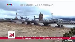 Lũ lụt kinh hoàng ở Nhật Bản, cảnh báo nguy hiểm vẫn tiếp diễn | VTV24