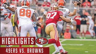 Browns vs 49ers 2019 Highlights
