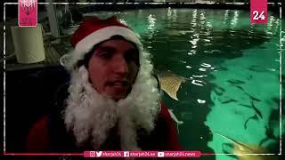 بابا نويل يطعم أسماك القرش عوضاً عن توزيع الهدايا في البرازيل
