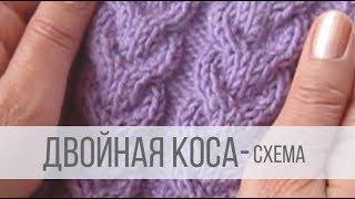 Схемы вязания плетенки спицами с описанием и схемами