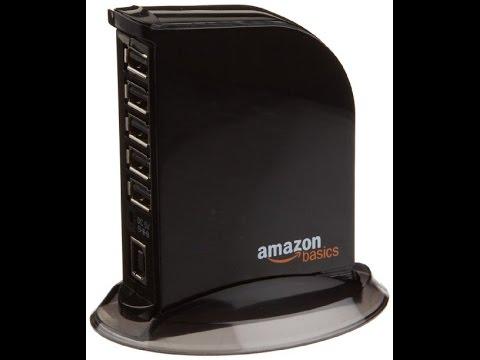 Amazon Basics Usb 2.0 Hub 5V/4Amp 7 Port REVIEW B00DQFGJR4