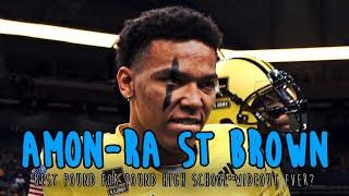 AMON-RA ST. BROWN CAREER HIGHLIGHTS: USC Freshman Ultimate HS Football Mixtape