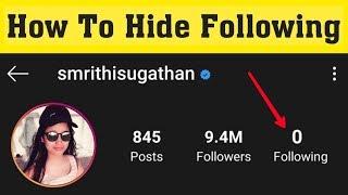 How To Hide Instagram Following List || Instagram Following List Hide Settings 2020
